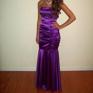 Prom / sweet 16 purple mermaid dress / gown